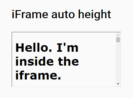 Calculate dynamic height of iFrame | how to calculate content height