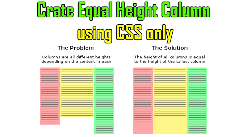 Equal height column Problem – Solved – Grow Your Knowledge